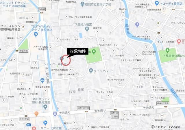 エンゼルハイム長尾601号_地図
